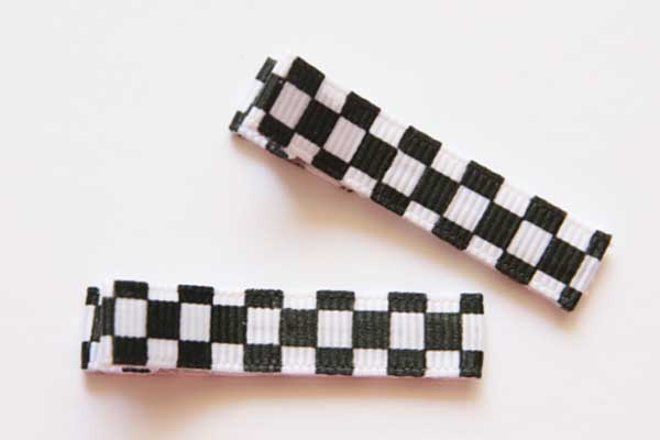 Racing Car Chequered Clippies