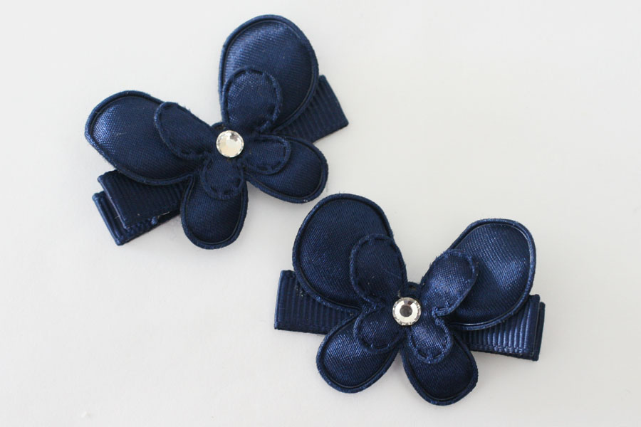 Satin Navy Butterflies - Click Image to Close