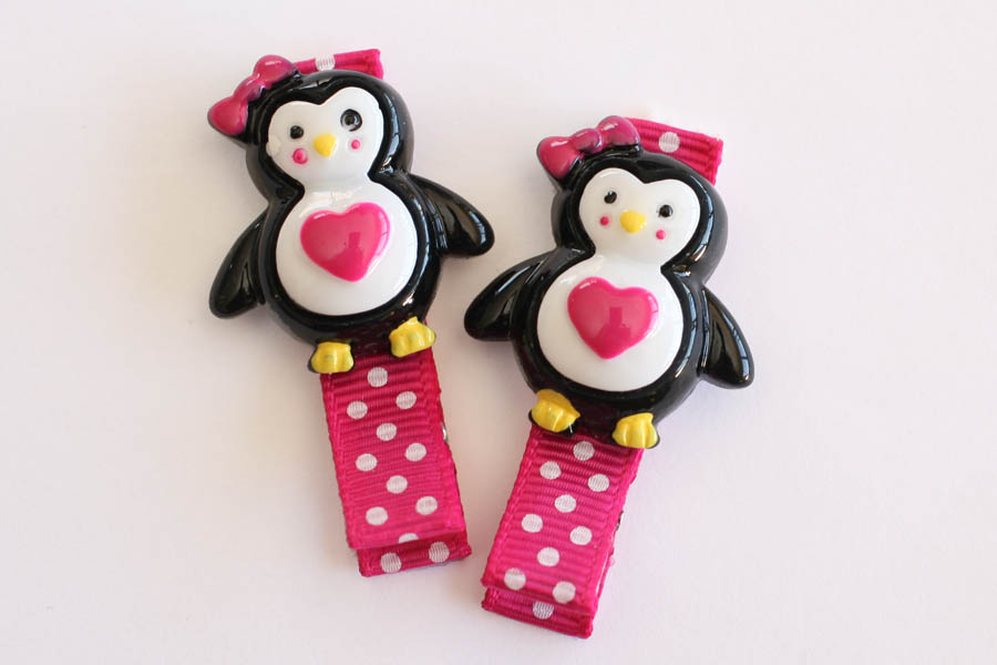 Penguin Love Resin Clip